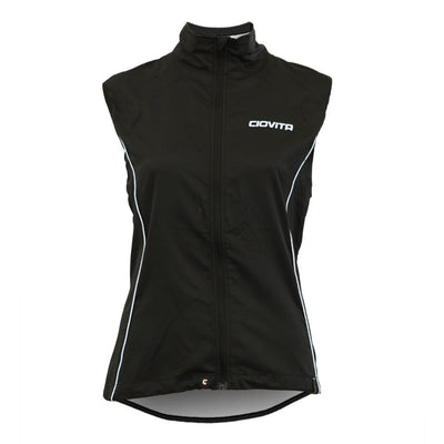 black 2 in 1 cycling jacket and gilet