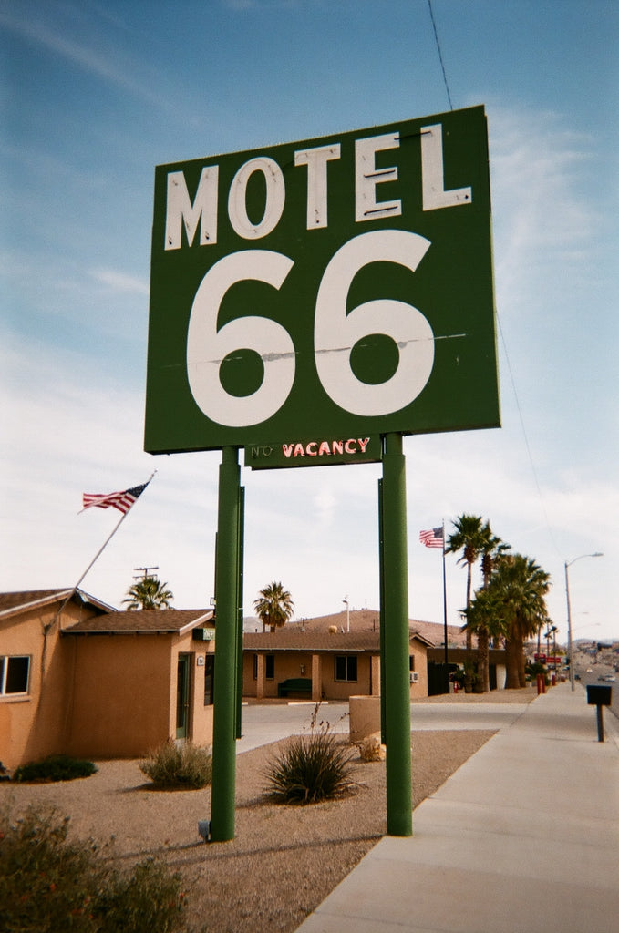 Motel 66 on Route 66 in California
