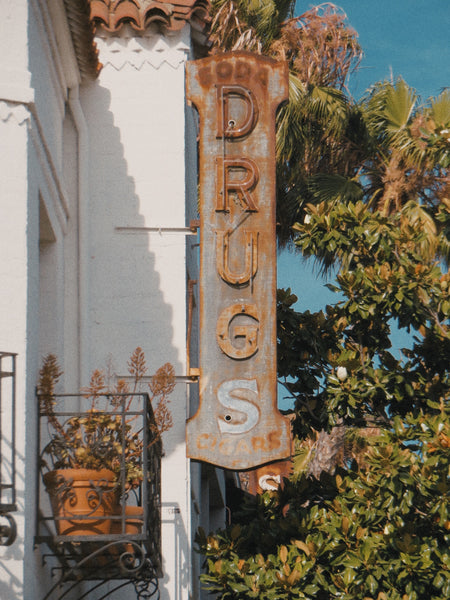 Drugs Vintage Neon Sign Los Angeles Beverly Blvd