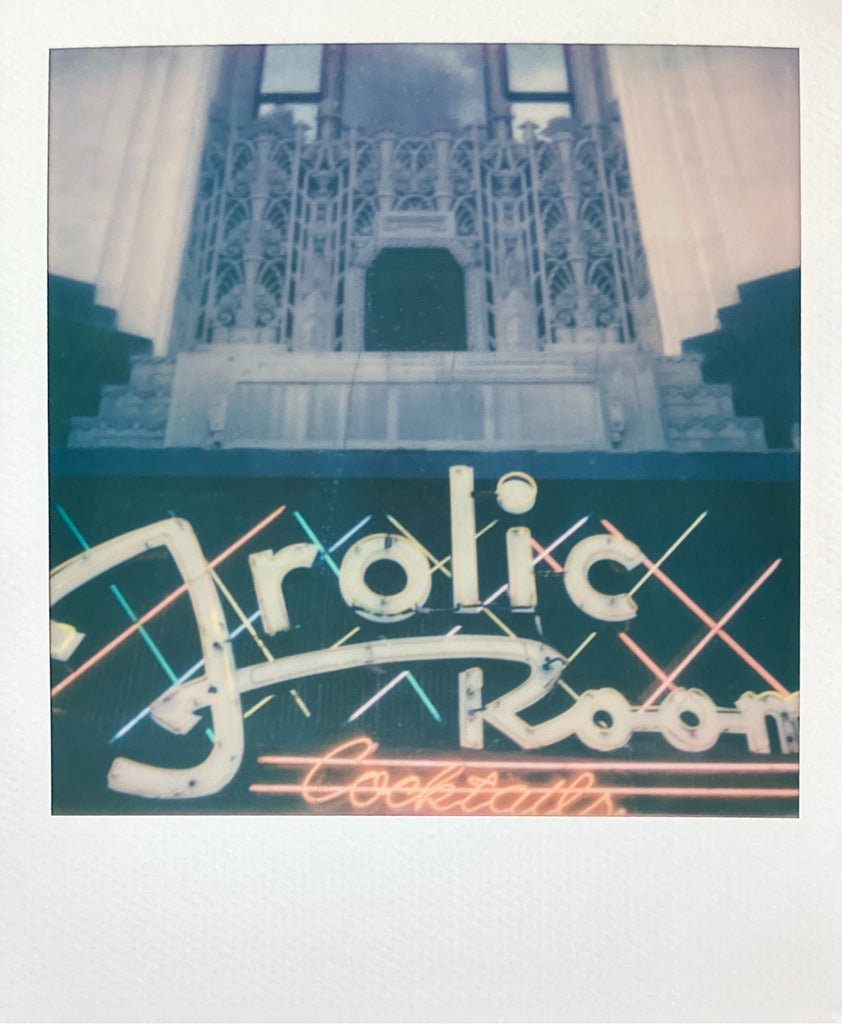 Frolic Room Hollywood Neon Sign On Polaroid