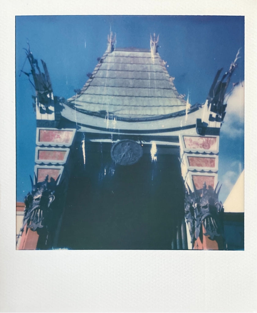 Chinese Theatre Hollywood on Polaroid