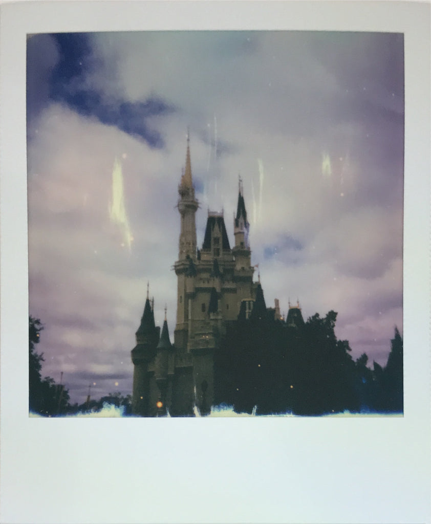 Magic Kingdom Cinderella Castle Walt Disney World Polaroid Picture Scan