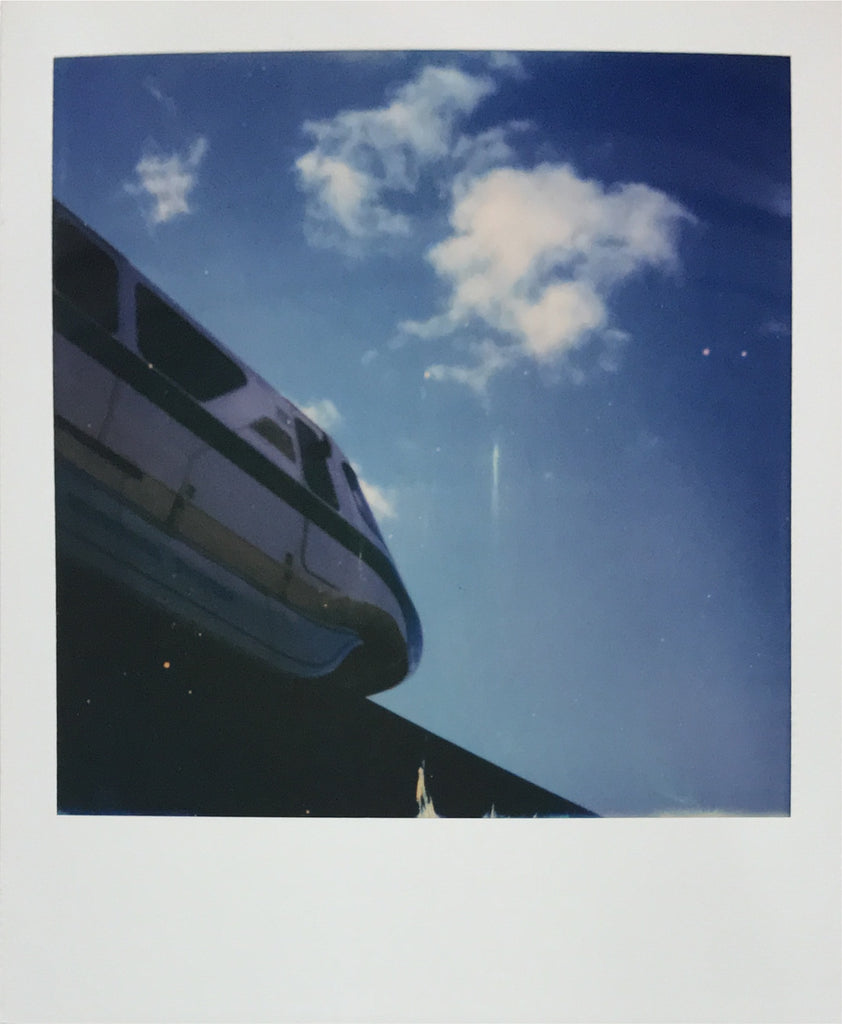 Monorail at Epcot Walt Disney World Polaroid Picture Scan