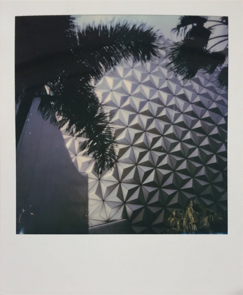 Spaceship Earth Epcot Walt Disney World Polaroid Picture Scan