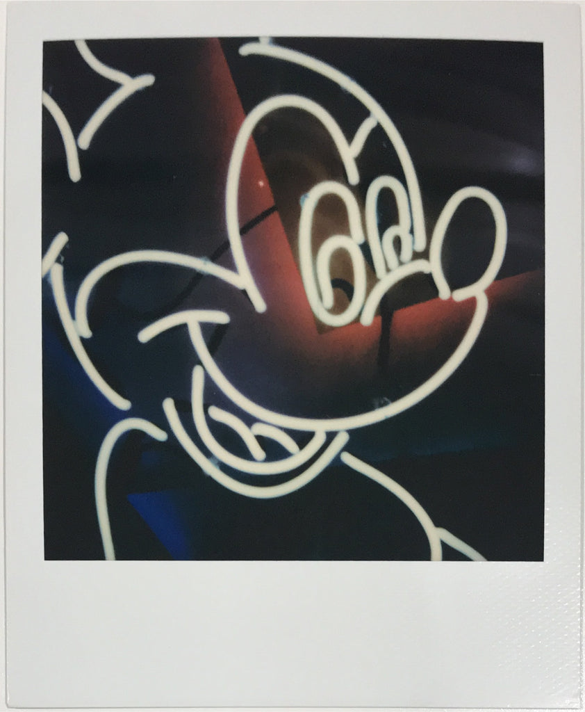 Mickey Mouse Neon Sign Contemporary Resort Walt Disney World Polaroid Picture Scan