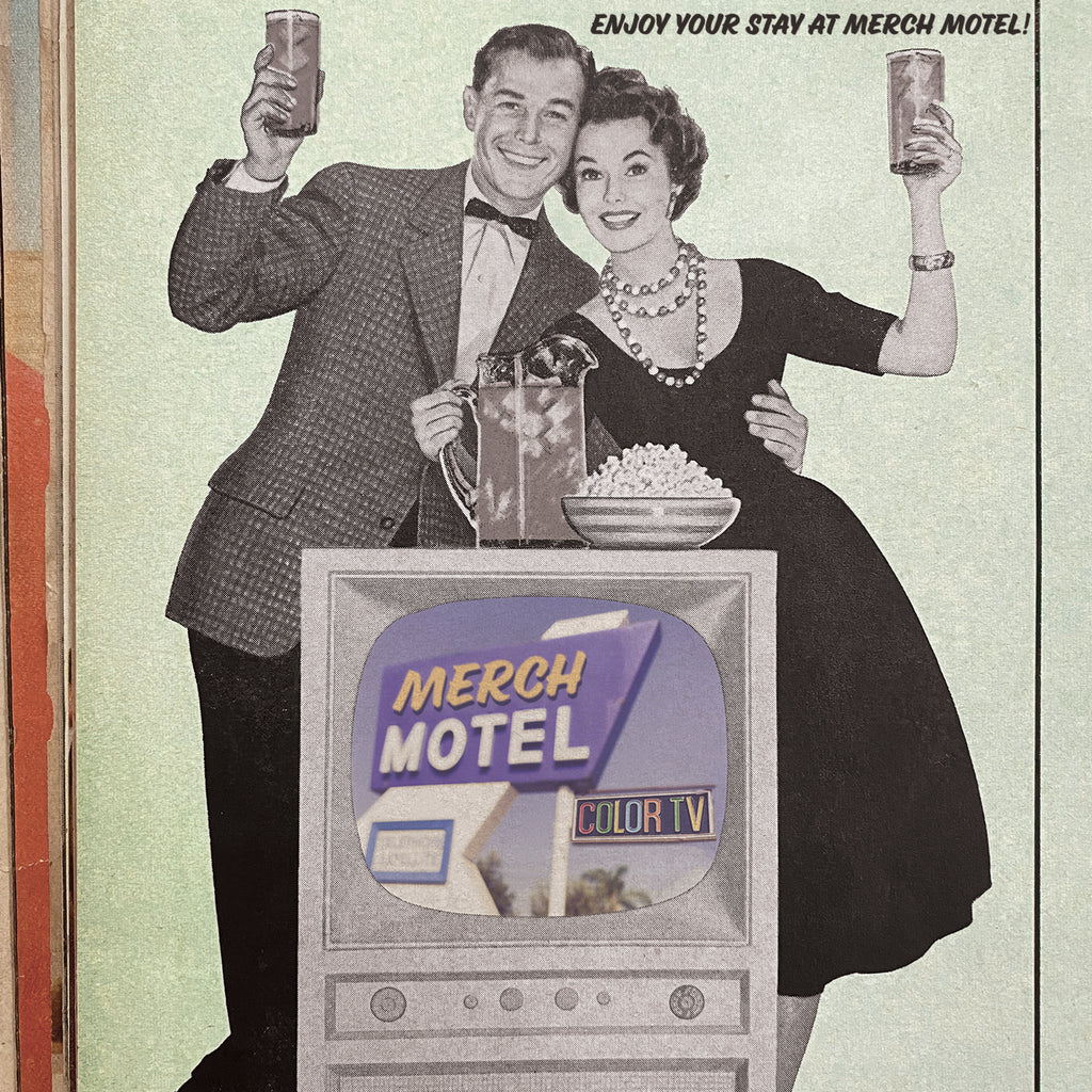 Enjoy your stay at Merch Motel Retro Ad Vintage TV advertisement 1950s