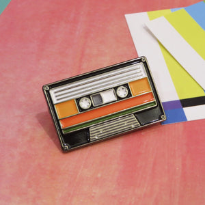 Retro Cassette Enamel Pin by Merch Motel