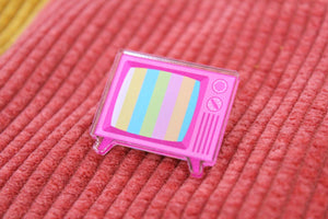 Retro TV Acrylic Pin