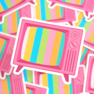 Retro TV Sticker