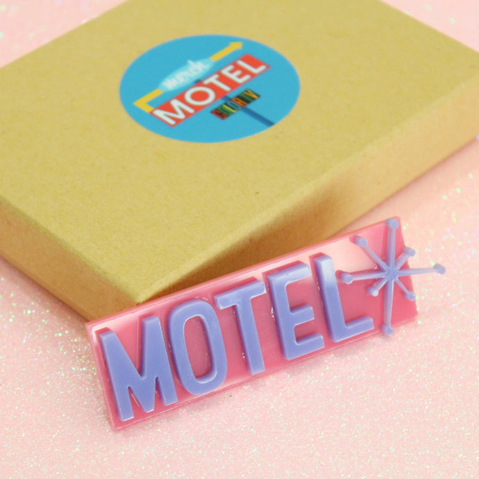 Pink and Purple Motel Sign Magnet