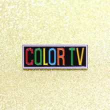 Load image into Gallery viewer, Retro COLOR TV Enamel Pin by Merch Motel