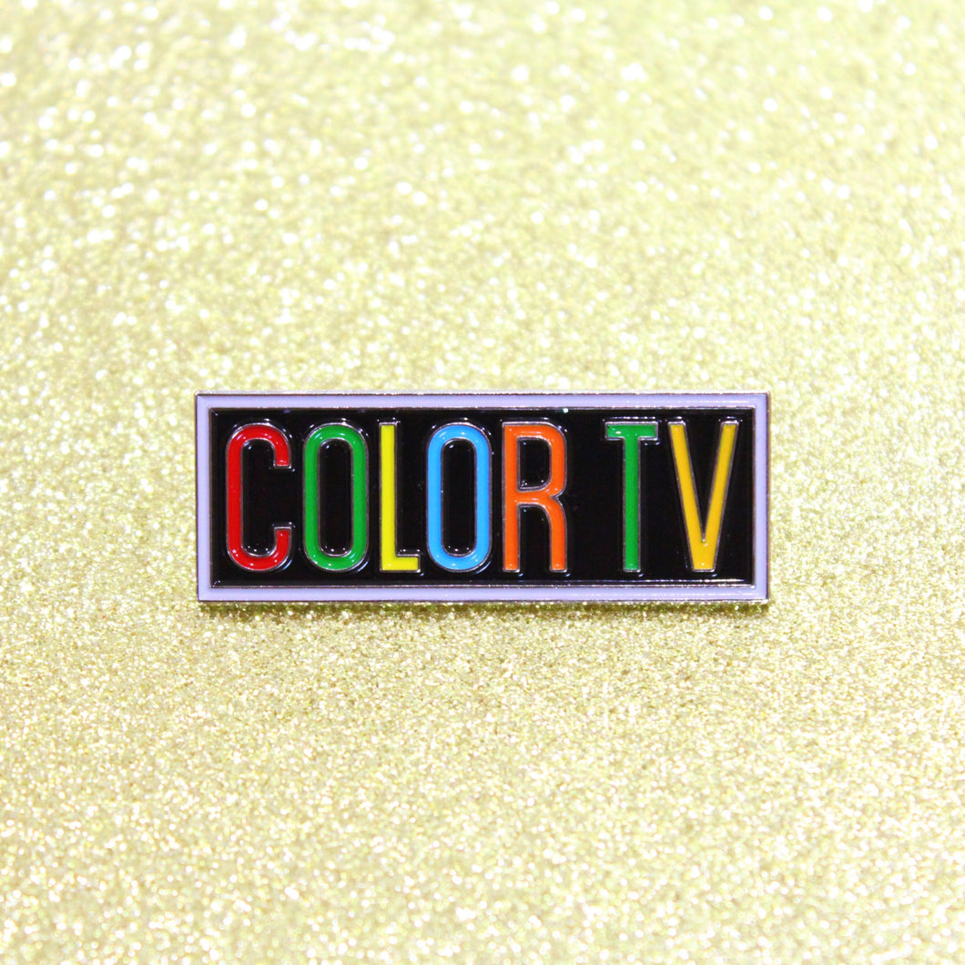 Retro COLOR TV Enamel Pin by Merch Motel