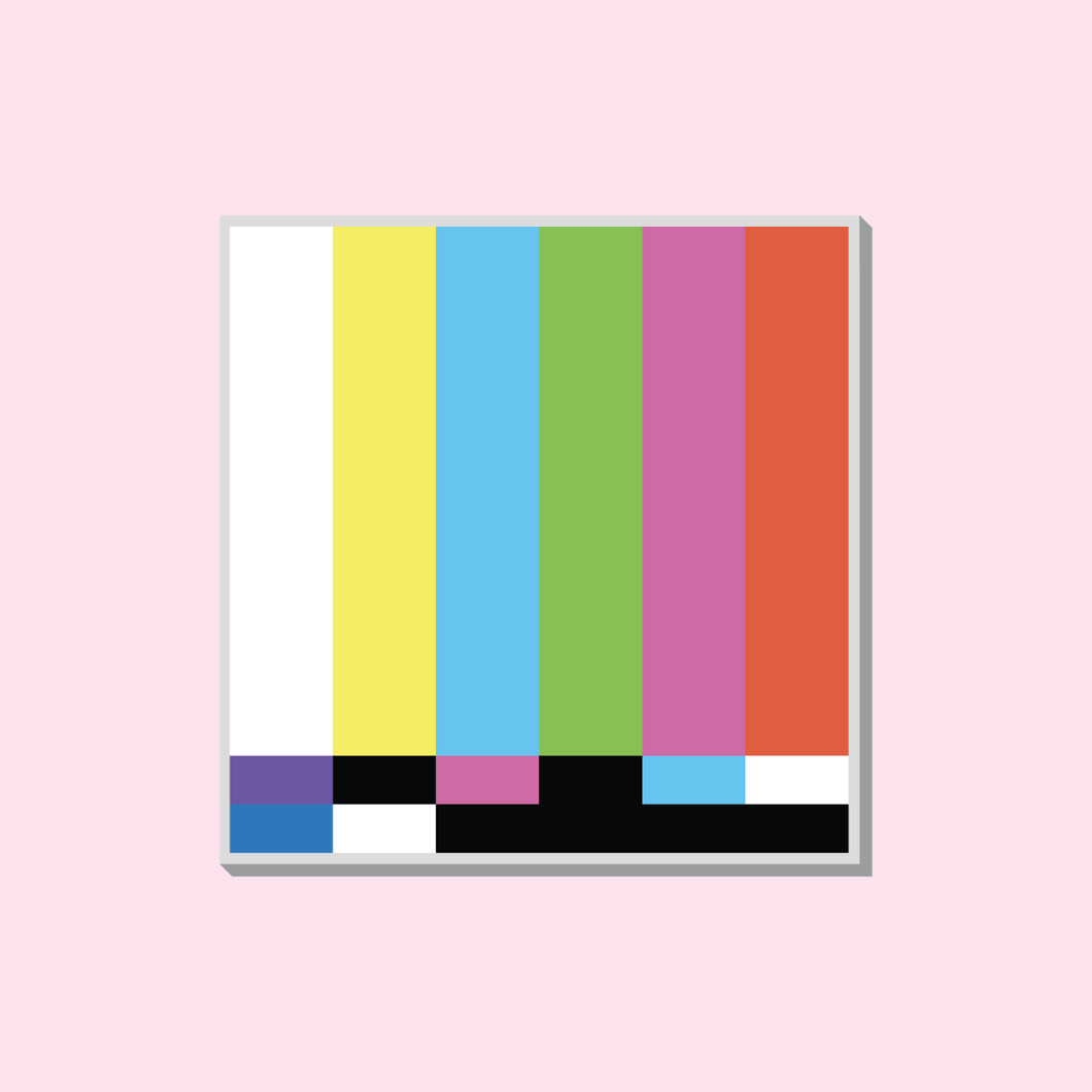 TV Screen Acrylic Pin