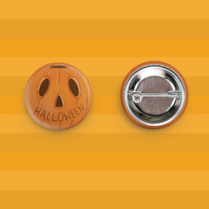 Vintage Halloween Pumpkin Button Merch Motel
