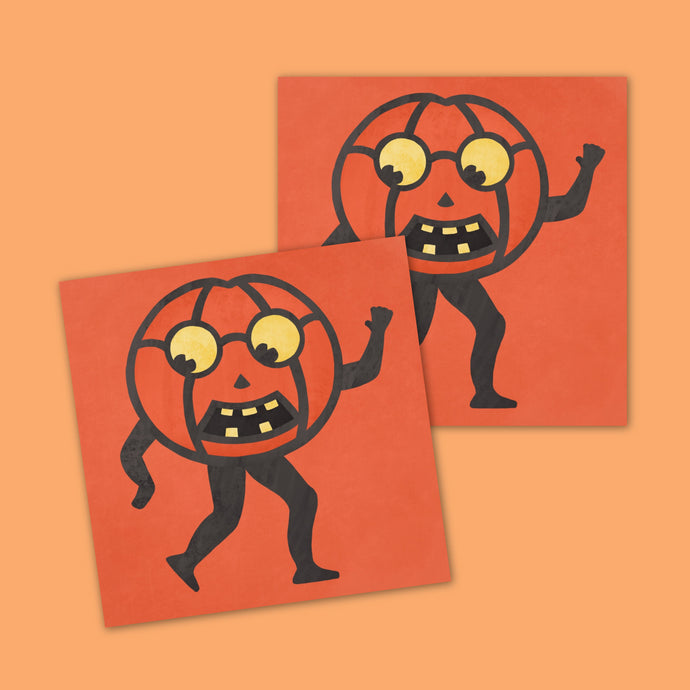 Vintage Halloween Pumpkin Sticker Merch Motel