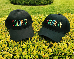 Retro COLOR TV Embroidered Hat by Merch Motel