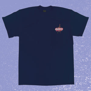Embroidered Stardust Shirt (Navy)
