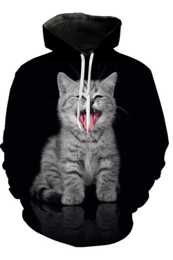 Unisex 3D Graphic Hoodies  Animals Cats American Shorthair Shout