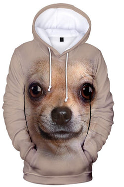 3D Graphic Hoodies  Animals Dogs Chihuahua