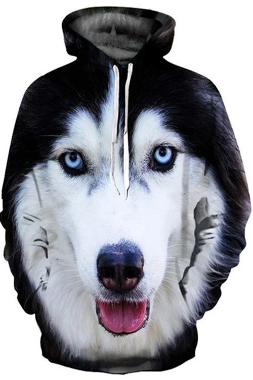 Unisex 3D Graphic Hoodies  Animals Dogs Husky