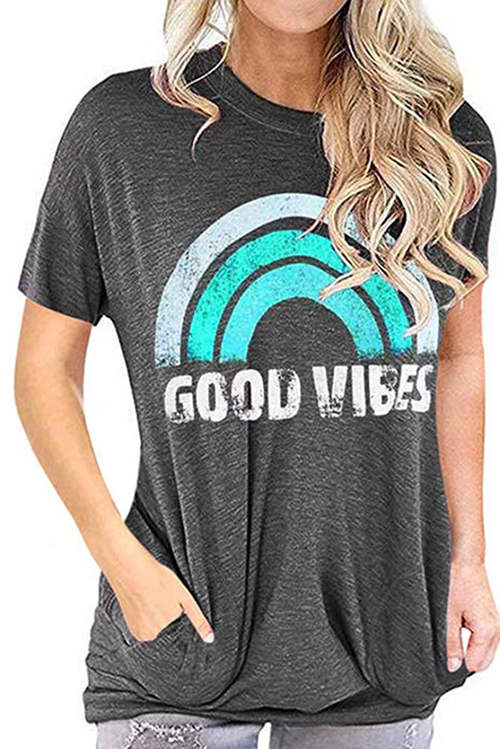 Rainbow GOOD VIBES T-Shirt