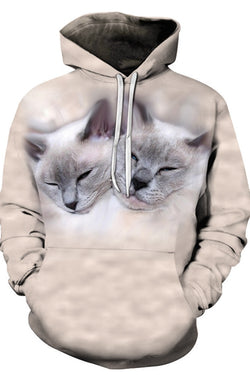 Unisex 3D Graphic Hoodies Animals Cats Sleepy