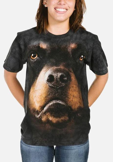 Adult Unisex 3D Short Sleeve T-Shirt Rottweiler Face