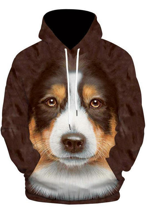Unisex 3D Graphic Hoodies  Animals Dogs Bernese Mountain Dog