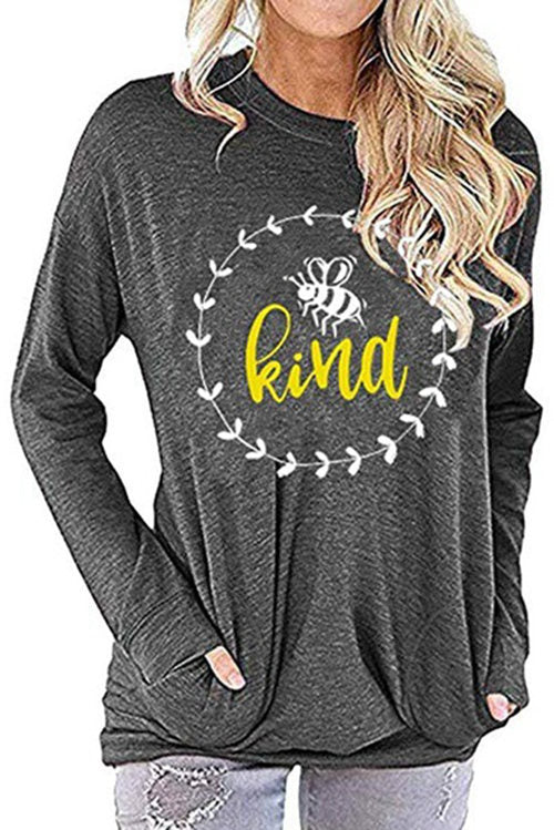 Be Kind Long Sleeved Pocket T-shirt