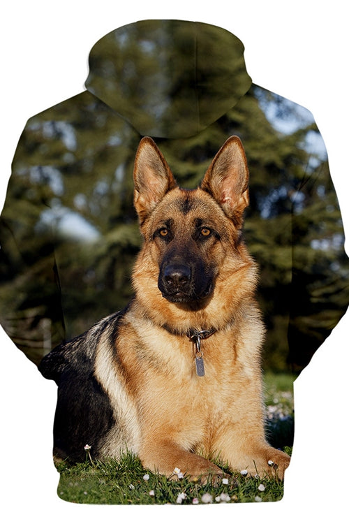 Unisex 3D Graphic Hoodies  Animals Dogs German Shepherd Dog Quiet