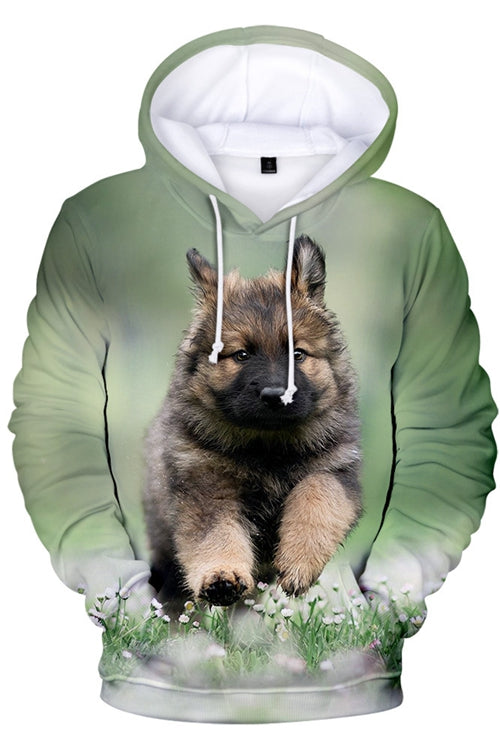 3D Graphic Hoodies  Animals Dogs German Shepherd Dog Run