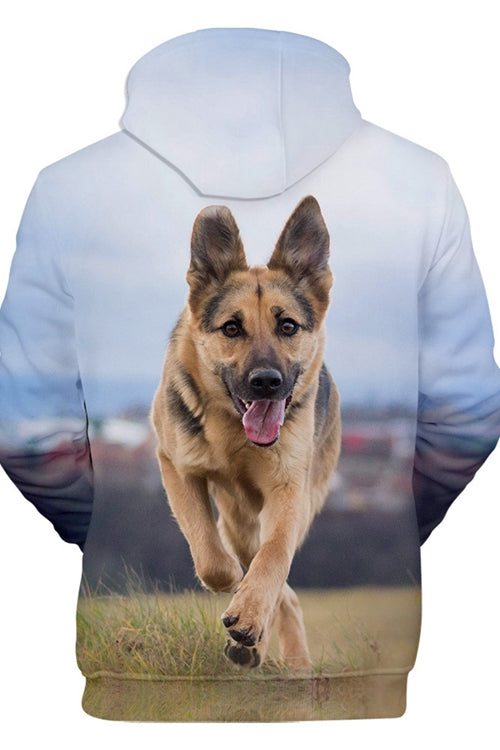 3D Graphic Hoodies  Animals Dogs German Shepherd Dog Run Wild