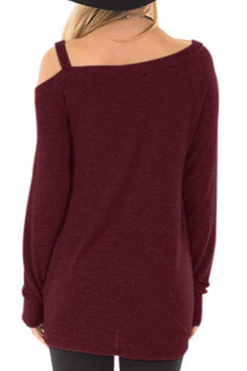 Knotted Hem Long Sleeve T-Shirt