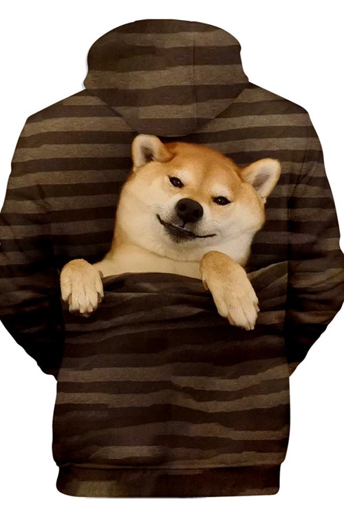 Unisex 3D Graphic Hoodies Sweatshirts Animals Dogs Shiba Inu Smile