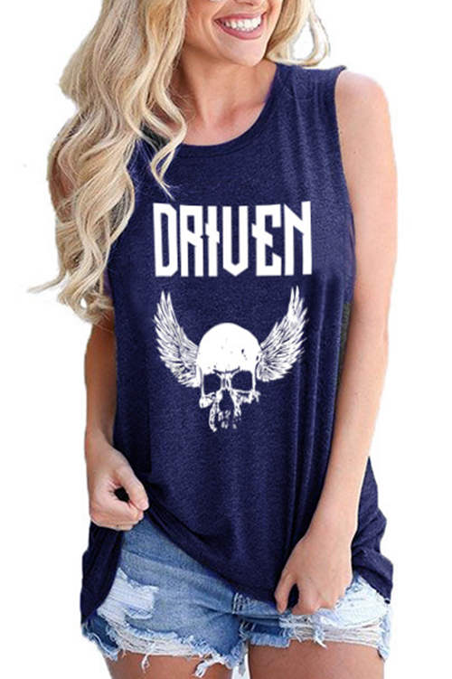Driven Letter Printed Tank Top