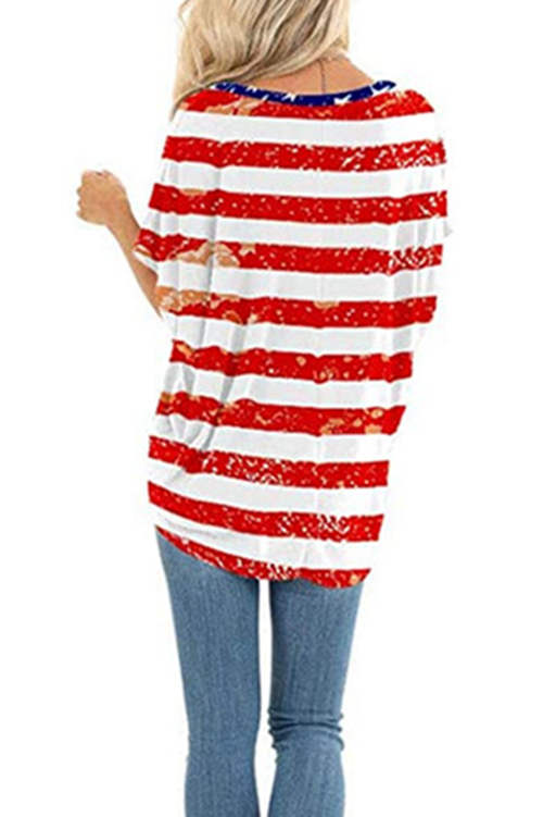 American Flag Independent Printed T-Shirt
