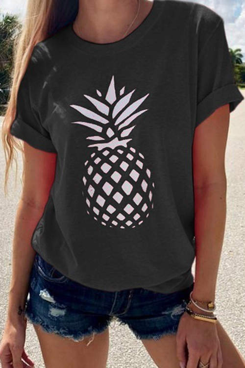 Pineapple Print T-Shirt