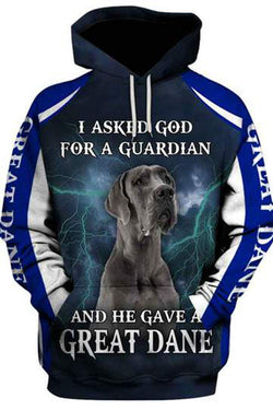 3D Graphic Hoodies  Animals Dog Art Great Dane