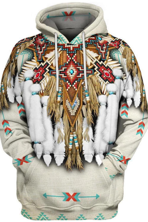 Indian Style 3D Digital Printing Long-Sleeved Hoodie 5