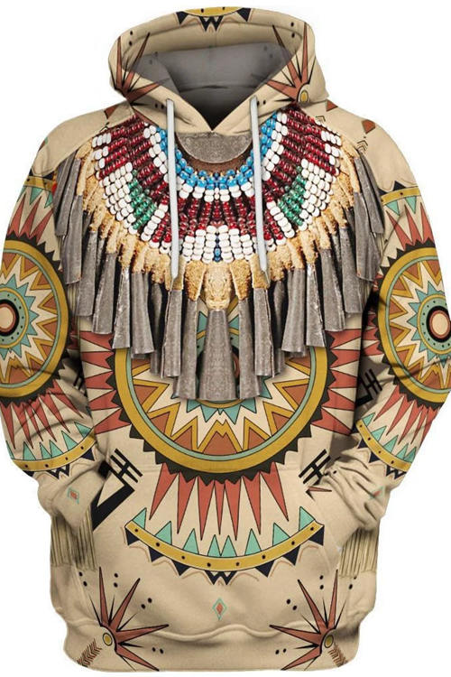 Indian Style 3D Digital Printing Long-Sleeved Hoodie 8