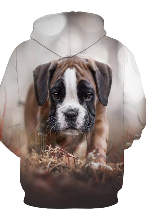 3D Graphic Hoodies  Animals Dogs Boxer Lovely