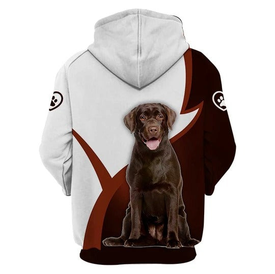 3D Graphic Hoodies  Animals Dogs Labrador Retriever Sit