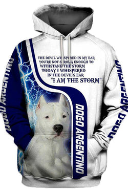 3D Graphic Hoodies  Animals Dog Art Dogo Argentino