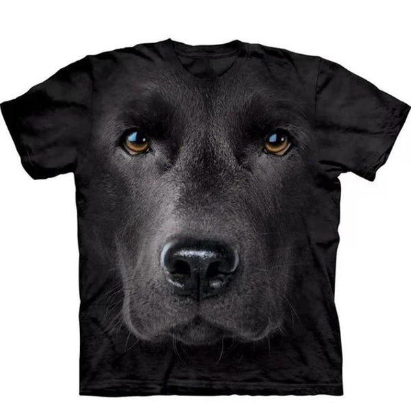 Adult Unisex 3D Short Sleeve T-Shirt Black Lab