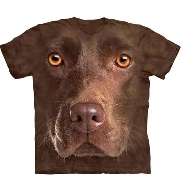 Adult Unisex 3D Short Sleeve T-Shirt Chocolate Lab