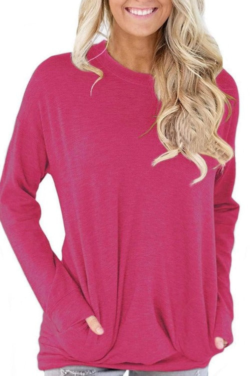 Casual Long Sleeve Basic T-shirt