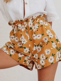 Sunflower Cotton-Blend Casual Women Shorts
