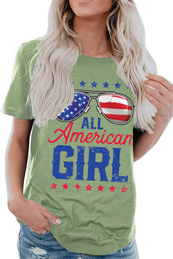 ALL AMERICAN GIRL Printed T-Shirt