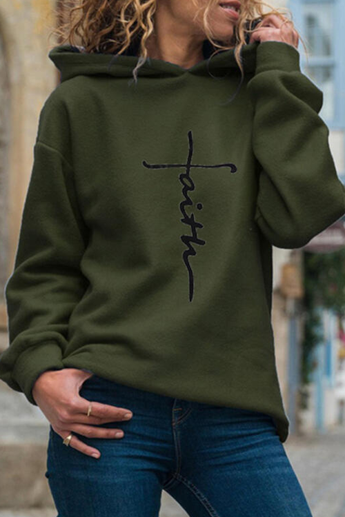 Printed Hooded Sweatshirt