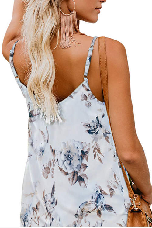 Halter V Neck Sleeveless Tank Top